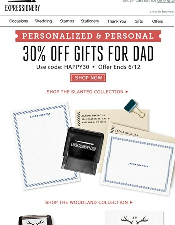 Only The Best For Dad: 30% Off Gifts