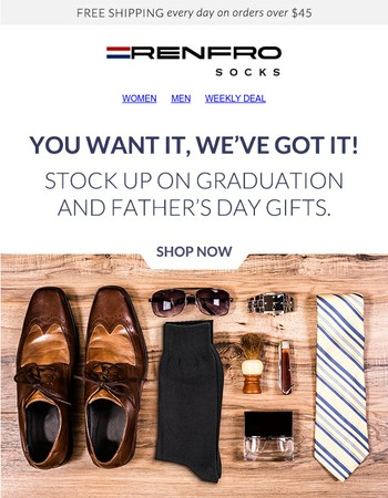Gifts for ANY Dad & Grad!