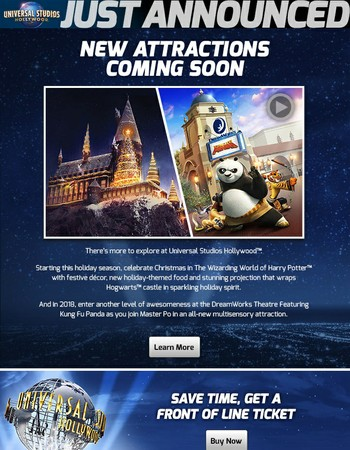 Just Announced: New at Universal Studios Hollywood
