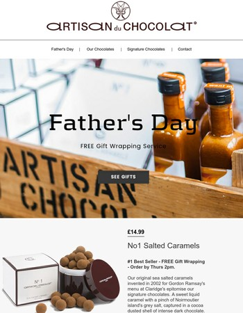 Father's Day Gifts & Free Gift Wrapping