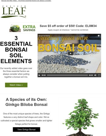 Video: 3 Essential Factors for Bonsai Soil + Exclusive Savings Coupon.