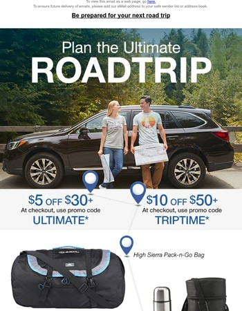 Multiple Offers for the Ultimate Road Trip