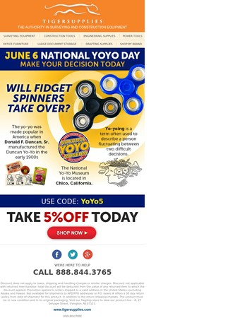 Tiger is Celebrating National YoYo Day, Special Promo Inside