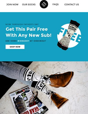 Get Dad The Perfect Gift + An Extra Pair FREE!
