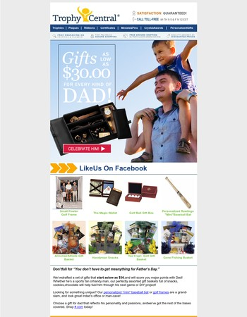 Father's Day Gifts as Low as $30