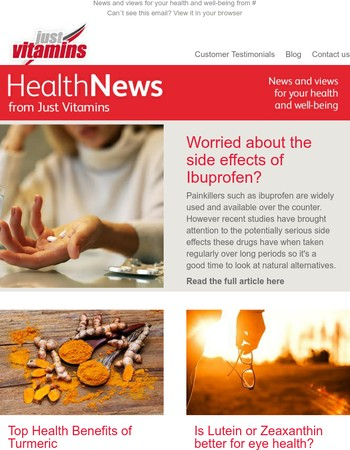 Latest Health News from Just Vitamins