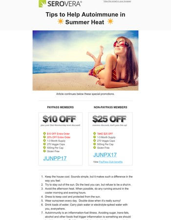 ☀ Summertime: Tips to Help Autoimmune in Summer Heat