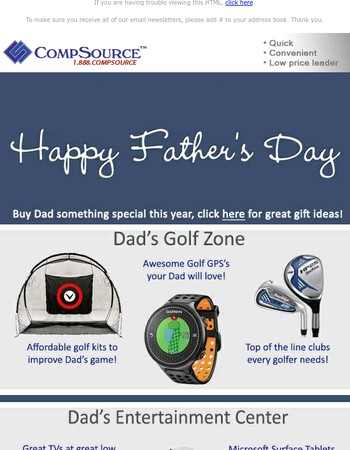 Get Dad Something Special This Year!