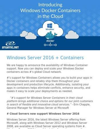 Windows Server 2016 Container Support Now Available!