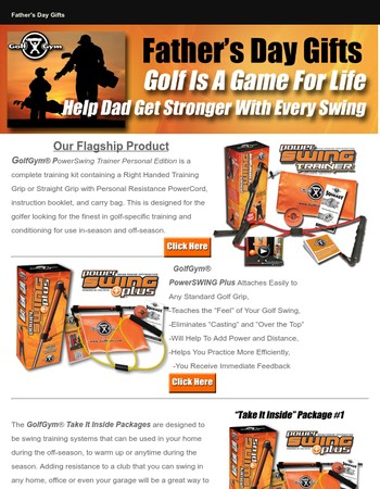 Unique Father's Day Golf Gifts