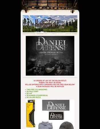 Daniel Defense Clearance Sale + Free Gear Raffle