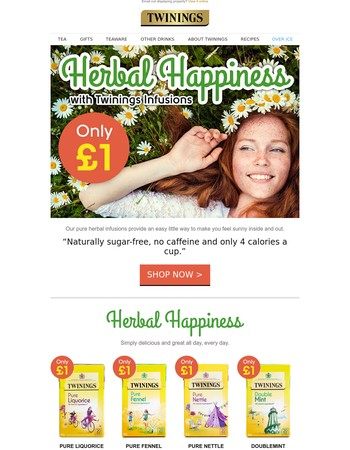 Herbal Happiness - £1 Herbal & Fruit Infusions