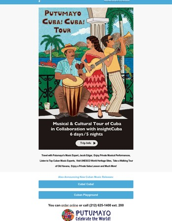 Putumayo & inSight Cuba Introduce Music Tours of Cuba