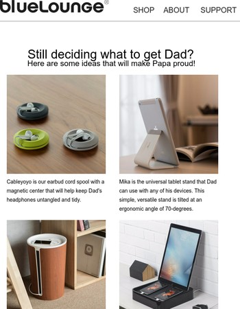 Father's Day Gift Guide Inside, Save With 15% off!