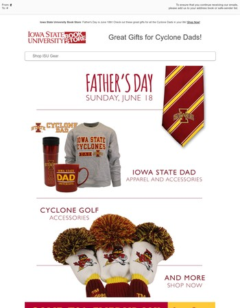 Great Gifts for Cyclone Dads!