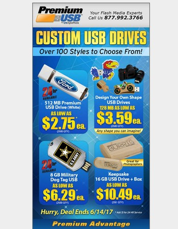 Custom USB Drives - Over 100 Styles to Choose From
