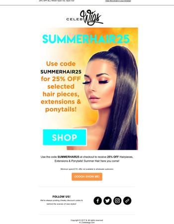25% OFF☀SUMMER HAIR SALE