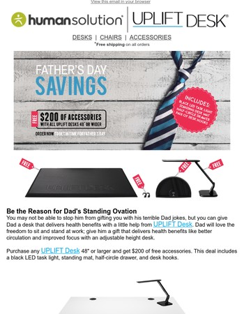 Father's Day Savings from UPLIFT Desk!