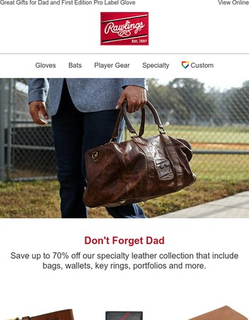 Don't Forget Dad!  Great Deal on Leather Products