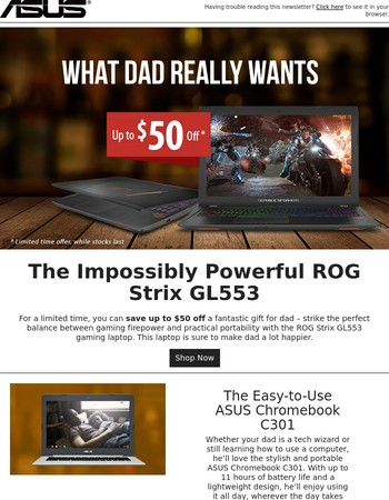 Great deals on great gifts for Dad!