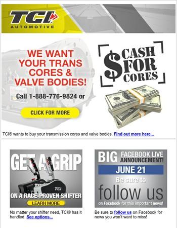 We Want Your Cores & Valve Bodies!