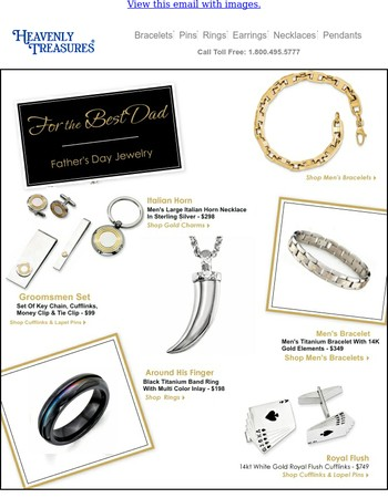 Jewelry Gifts Just For Dad - Shop Now