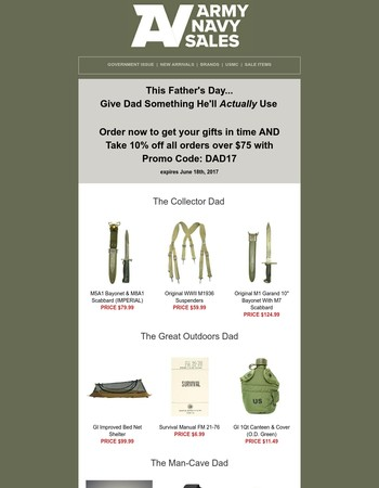 Check out these great Father's Day Ideas!