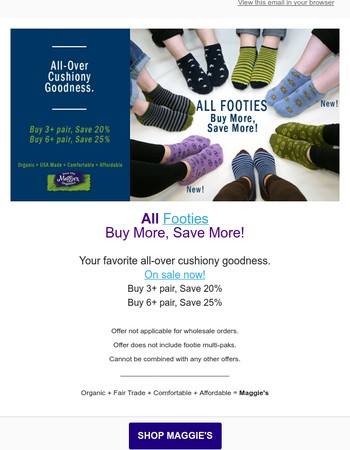 ALL Footies on Sale