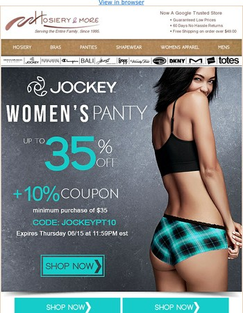 The Pantys You'll Love! Now 35% Off. Satisfaction Guaranteed!
