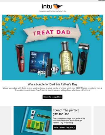 Win a bundle of prizes for Dad, worth over £480!