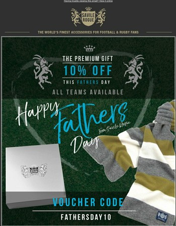 10% Off For Father's Day on Finest Cashmere Football Scarfs