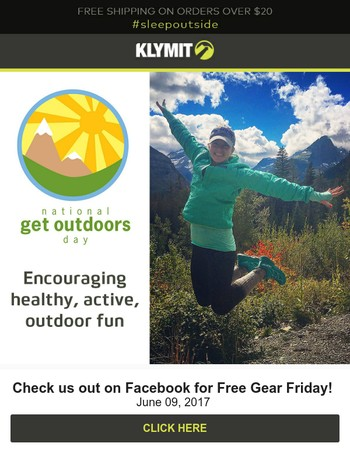 Happy Get Outdoors Day