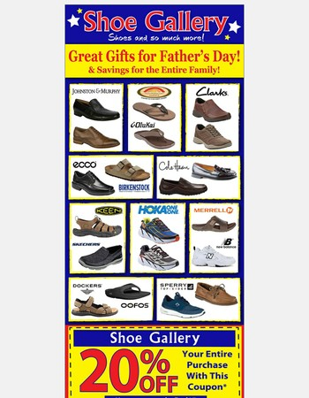 Shop for your Pop!  Save 20% now through Father's Day