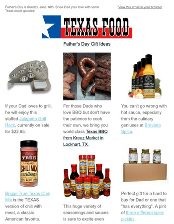 Father's Day Gift Ideas from TexasFood.com