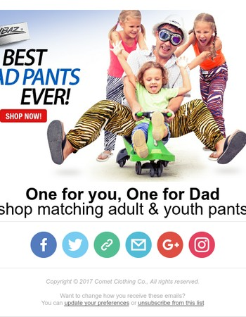 One for Dad, One for You! Shop Youth & Adult Zubaz!