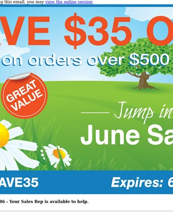 Save $35 Today