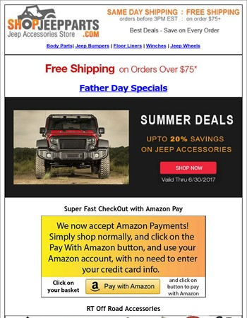 Early Father Day Deals on Jeep Accessories