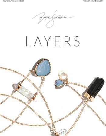 Layers - New necklaces and earrings to layer on the style