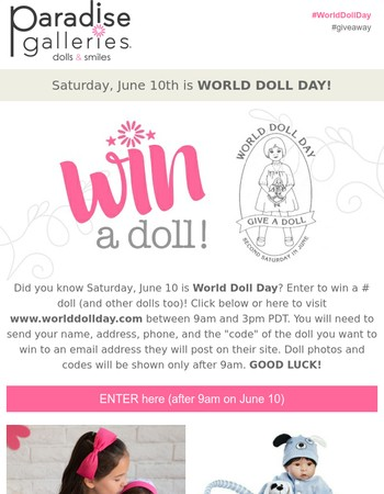 June 10th is World Doll Day