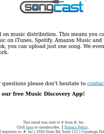 1 Month Free Trial, Distribute Your Music Everywhere