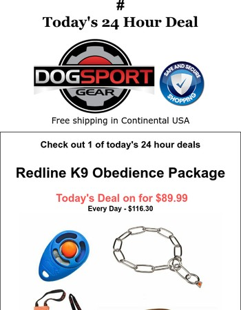 Today's Deal -  Redline K9 Obedience Package