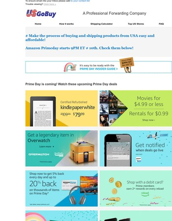!!Wow!! Amazon's Primeday, Huge big sale! Don't miss out!