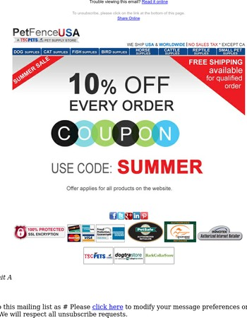 Your Exclusive Summer 10% Off Coupon!