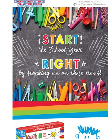 Start the school year off right by stocking up on these items!