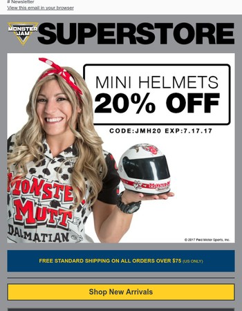 20% Off Mini Helmets