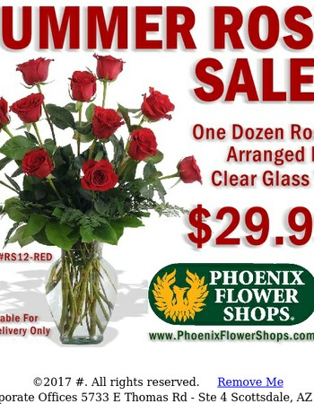 Our Summer Rose Sale...