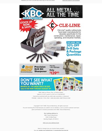 Replace your worn out drill bits! Save big on Cle-Line today!