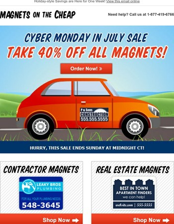 Cyber Monday in July Sale! Save 40% All Week