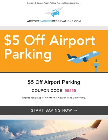 We have a new airport parking coupon for you.