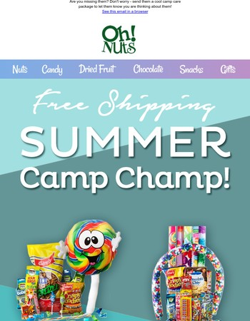 Are you missing them already? Send a COOL Camp Package + Free Shipping!